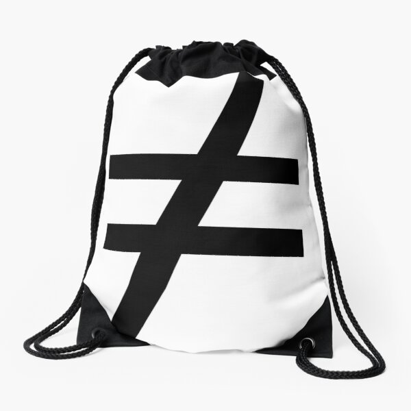 Inequality Symbol,  Math, #Inequality, #Symbol,  #Math, #InequalitySymbol,  #MathSymbol,  #InequalityMathSymbol Drawstring Bag