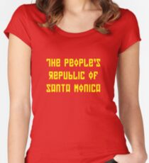 The People's Republic of Santa Monica (dark shirts) Women's Fitted Scoop T-Shirt