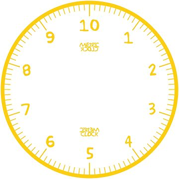 Metric Clock (Yellow/Black Fun Font) by RoufXis