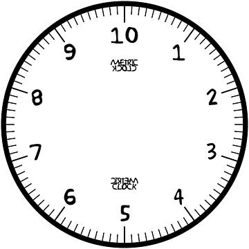 Metric Clock (Black Fun Font) by RoufXis