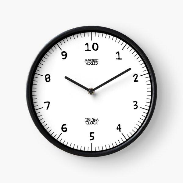 Metric Clock (Black Fun Font) Clock