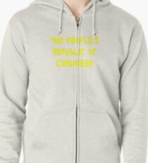 The People's Republic of Cambridge (yellow letters) Zipped Hoodie
