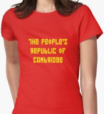 The People's Republic of Cambridge (yellow letters) Women's Fitted T-Shirt