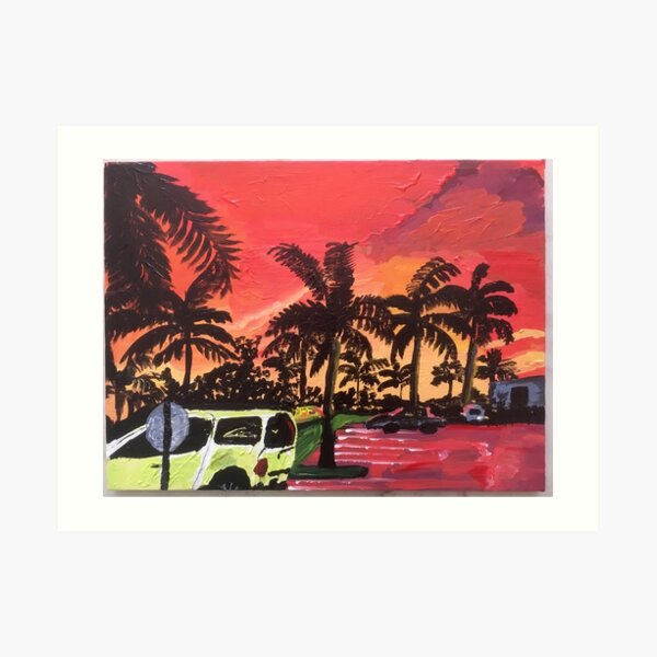 Florida Parking Lot Art Print