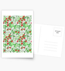 Hand Painted Strawberries Pattern Postcards