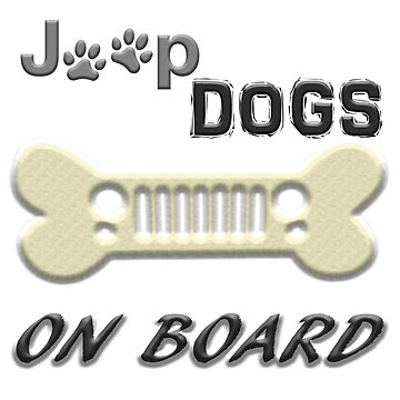 jEEP dogs on board by thatstickerguy