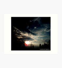 Dark Sunset In Alpena Michigan Art Print
