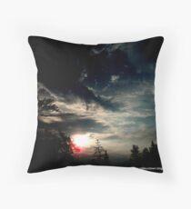 Dark Sunset In Alpena Michigan Throw Pillow