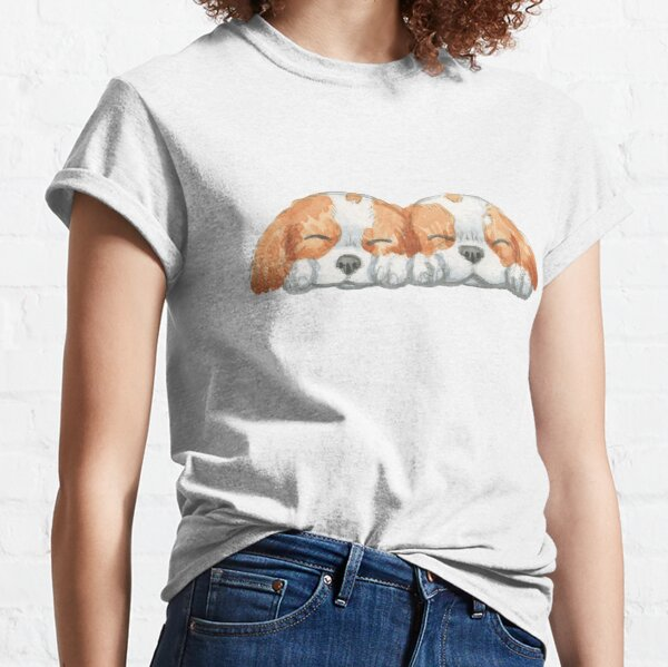 Cavalier King Charles Spaniel - Blenheim Couple Classic T-Shirt