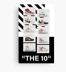 """""""The 10:"""" Off-White - T-Shirts and Stuff Canvas Print"""