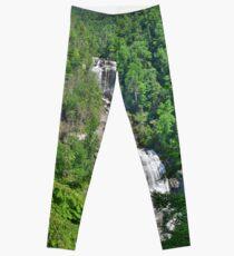 Upper Whitewater Falls North Carolina Summertime Leggings