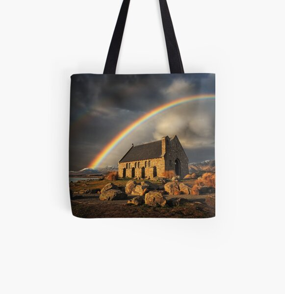 Nature's Halo All Over Print Tote Bag