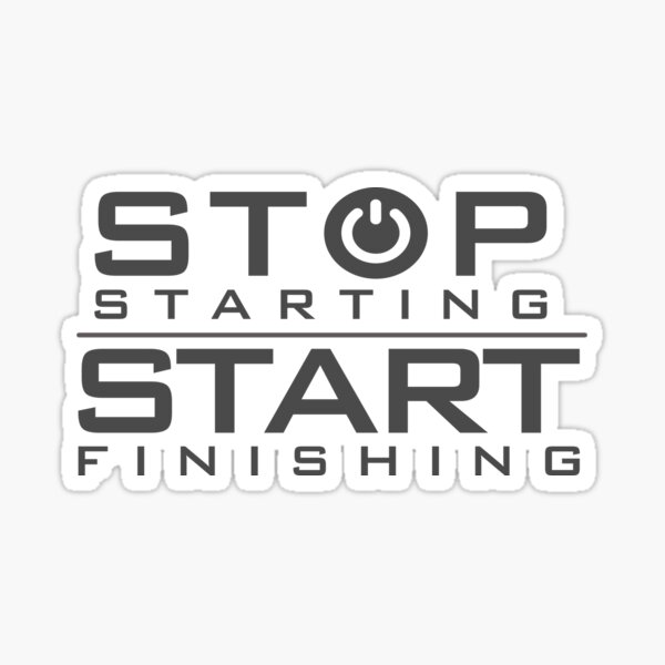 Start and Stop mood Sticker
