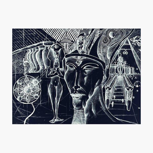 Akhenaten's Vision, Approval of Aten Photographic Print