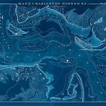 Civil War Maps 0683 Map of Charleston Harbor SC Inverted by wetdryvac