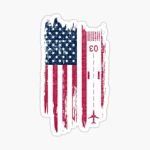 Vintage Patriotic Airplane Aviation Pilot American Flag T-shirts Gift Sticker