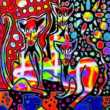 Three Cats by DustyO