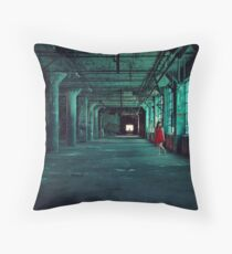 The Green Hallway Throw Pillow