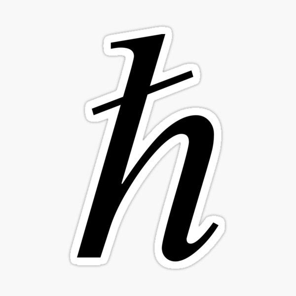 Planck constant, #Planck, #constant, #PlanckConstant, #Symbol Sticker