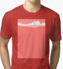Sail Away With Me - coral version Tri-blend T-Shirt