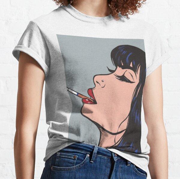 Smoking Girl Classic T-Shirt