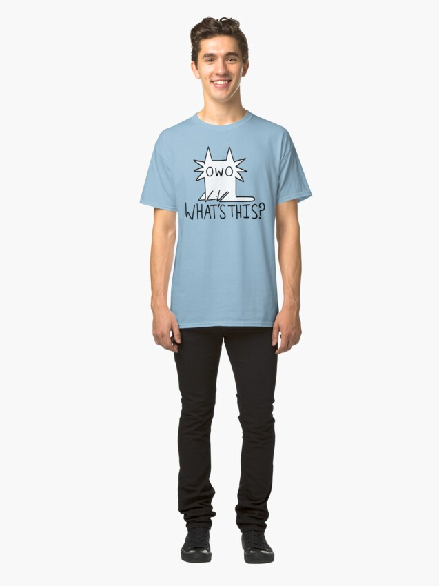 Alternate view of Gay OWO Cat Classic T-Shirt