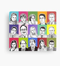 The Office Cast Metal Print