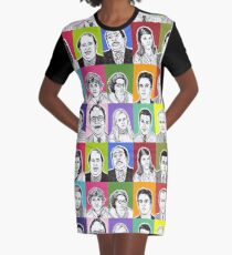 The Office Cast Graphic T-Shirt Dress