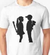 Banksy Boy Meets Girl! Slim Fit T-Shirt