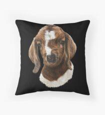 Portrait of a Goat  - Boer Goat Baby Nicklaus  Floor Pillow