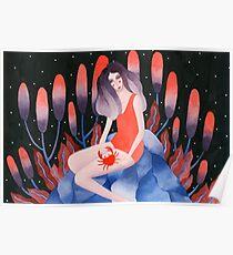 Zodiac - Illustration d'astrologie du cancer Poster