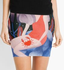 Zodiac - Cancer astrology illustration Mini Skirt