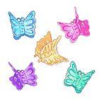 90s Nostalgia Series: Butterfly Clips by alyjones
