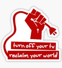 Turn Off Your TV (Red) Sticker