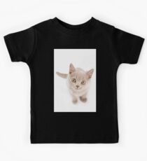 Funny cat with yellow eyes Kids Tee
