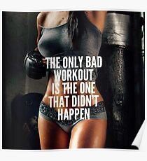 Inspirierend Zitat der Frauen Fitness Poster