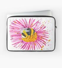 Bumble bee and flower Laptop Sleeve