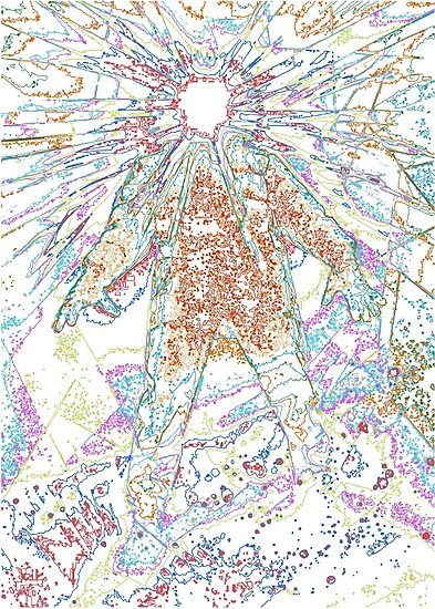 The Thing - Rainbow Layer Outline by Chaparralia