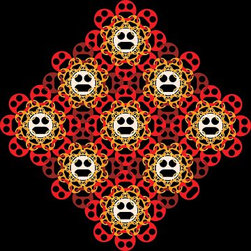 Mandala faces by Gwendal