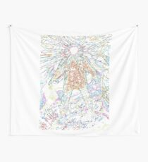 The Thing - Rainbow Layer Outline Wall Tapestry