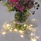 Lights And Flowers, Table Decoration by lezvee