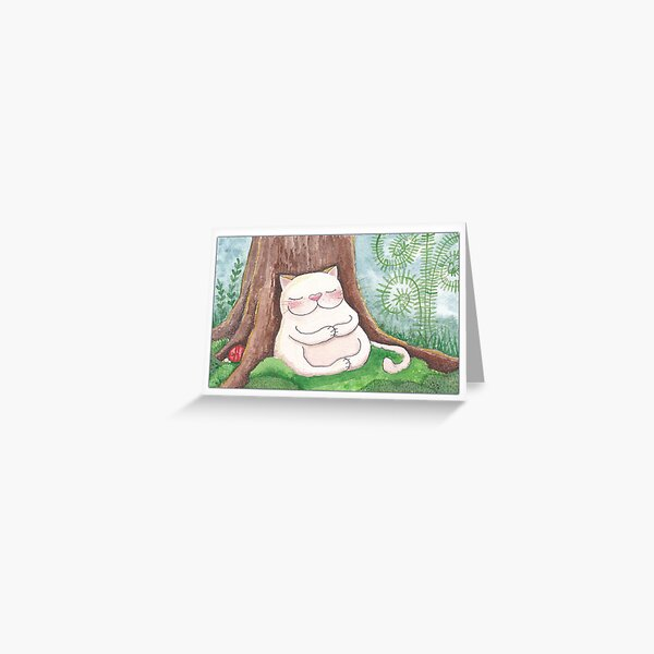 Meditating Kitty Greeting Card