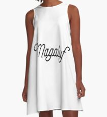Magaluf [Fancy Text] A-Line Dress