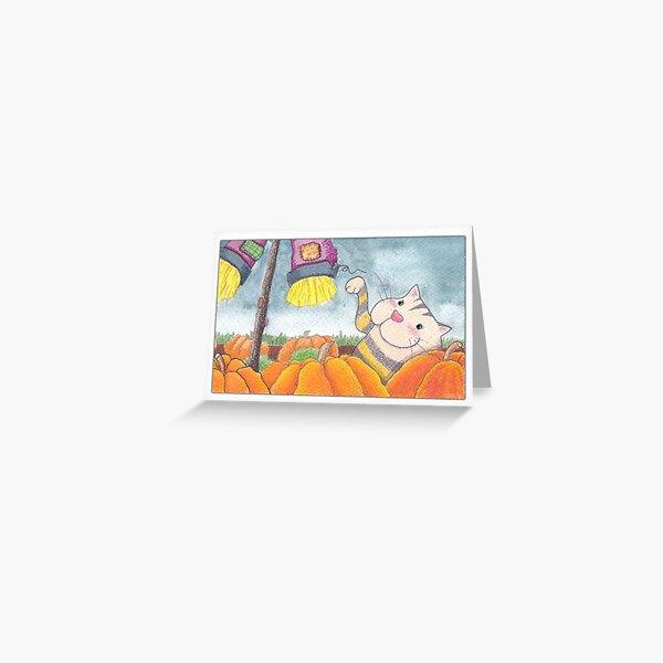 In The Pumpkin Field Greeting Card