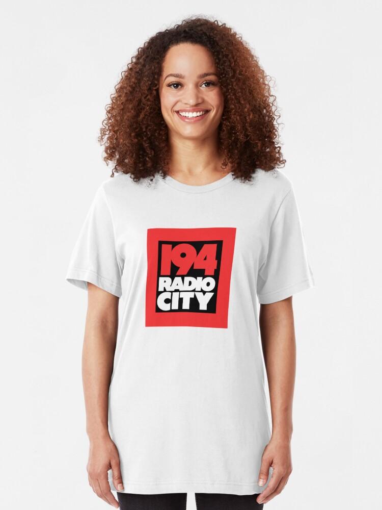 Alternate view of Radio City 194 Liverpool local independent radio logo Slim Fit T-Shirt