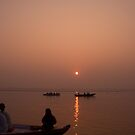 Sunrise on the Ganges by pennyswork