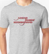 Herr Rogers Nachbarschaftslogo Slim Fit T-Shirt