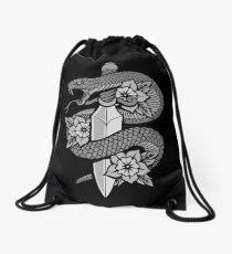 Snake & Dagger Drawstring Bag