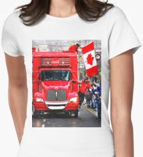 COCA-COLA Sponsors Winter Olympics 2010 Womens Fitted T-Shirt