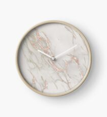 Prettiest Rosegold Marble - Rose Gold Marbled Pattern Clock